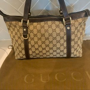 Gucci GG tote beige/brown canvas/leather